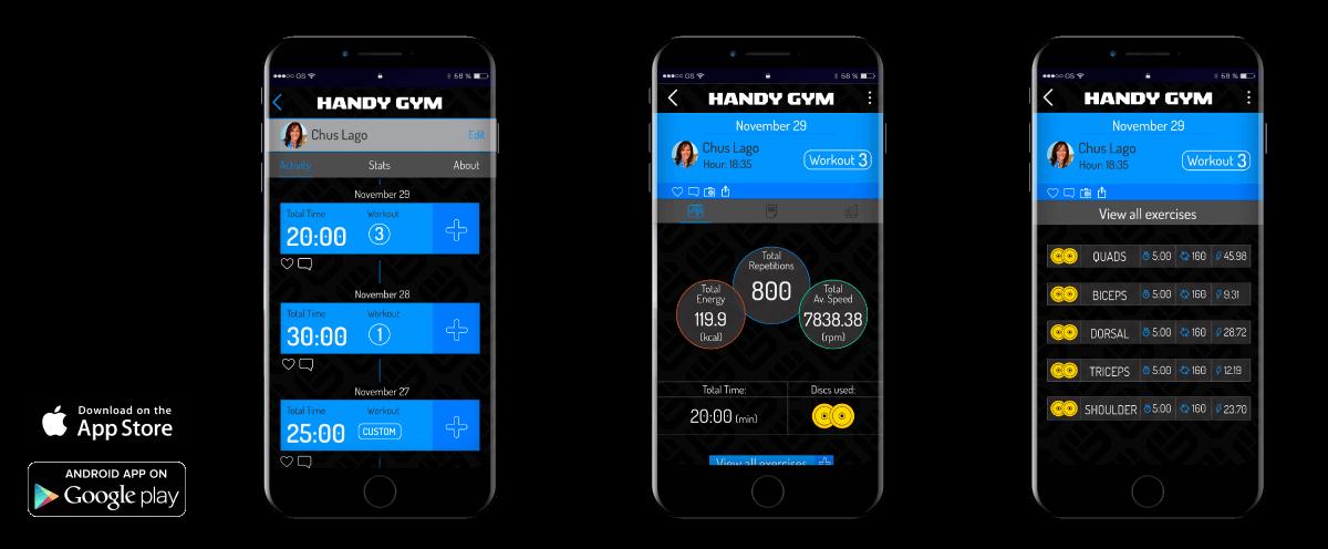 handygym app - Inicio