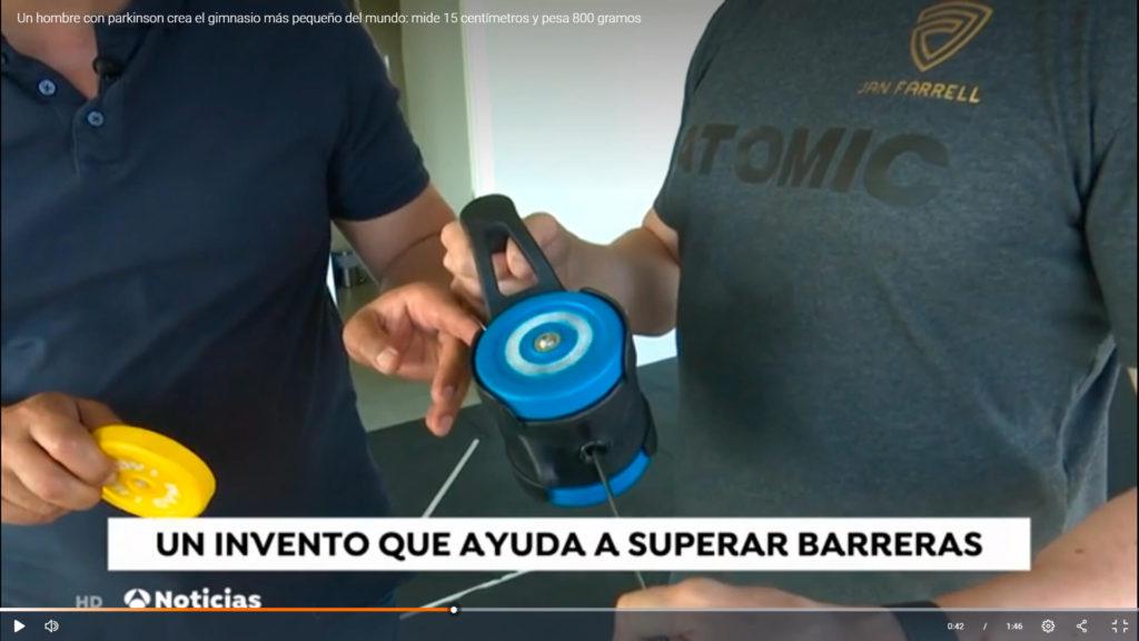 video hg antena3 1024x576 - UN HOMBRE CON PARKINSON CREA EL GIMNASIO MÁS PEQUEÑO DEL MUNDO.